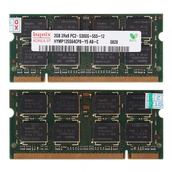 Memoria Ram Notebook Netbook 2x 2gb 4gb Ddr2 800mhz 2(m1)