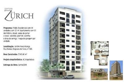 Ótimo Apartamento Para Venda No Nova Aliança, Ed Zurich, 1 Dormitorio, Varanda Gourmet, Completo Em Armários, 53 M2 E Portaria 24h - Ap01432 - 34070220