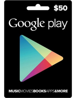Tarjetas Google Play Store $50 Android Usa