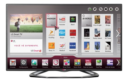 LG Smart Tv 3d 47 Polegadas (com Defeito) Modelo La6200