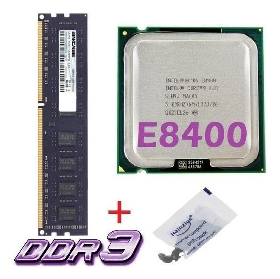 Kit Memória Ddr3 4gb 1333mhz + Cpu Core 2 Duo E8400 3 Ghz