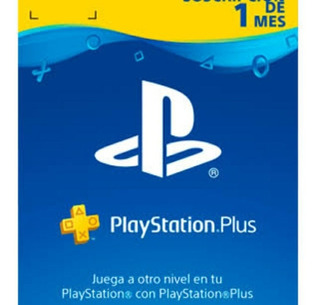 Playstation Plus 1 Mes Ps4 Ps3 Para Online, Inmediatamente