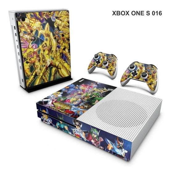Skin Adesiva Para Xbox One S (slim) - Cavaleiros Do Zodiaco
