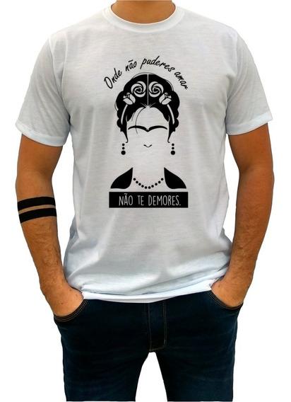 Camisa Masculina Blusas Femininas Frida Khalo Amor 1336