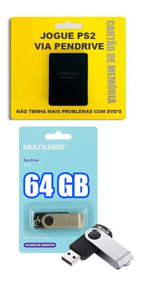 Memory Card Opl, + Pendrive 64 Gb + Jogos Para Crianças Ps2