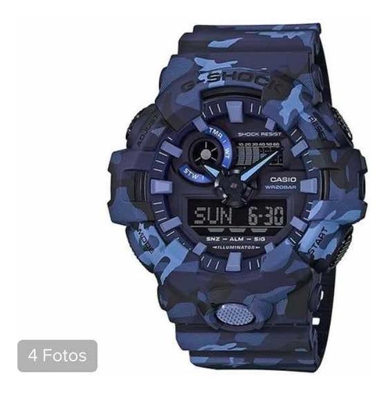 Relógio Casio G Schock Camuflado Azul Original !