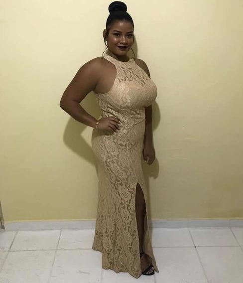 Vestido De Festa - Dourado