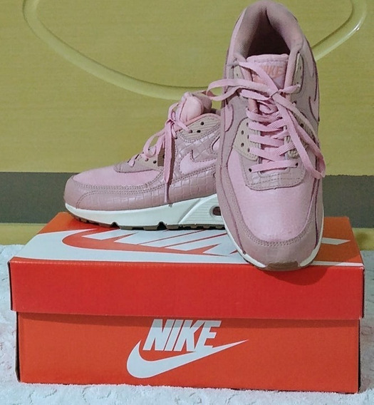 Tenis Nike Air Max 90 Rosa E Branco Nº38 Original Na Caixa!!