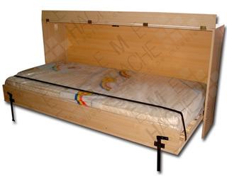 Mueble Cama Rebatible 1 Plaza Horizontal - Vertical