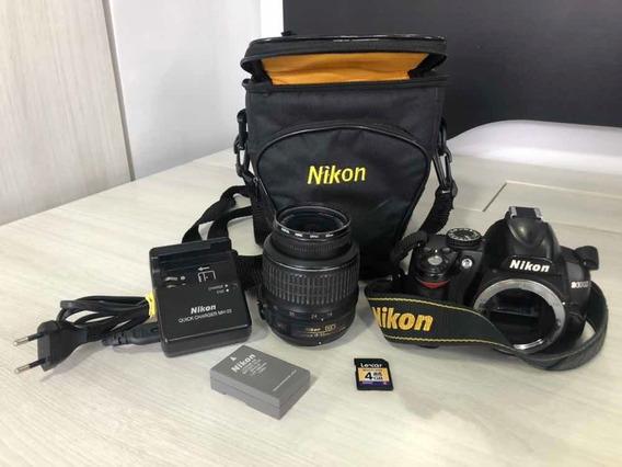 Vendo Câmera Nikon D3000 Com Lente 18-55mm