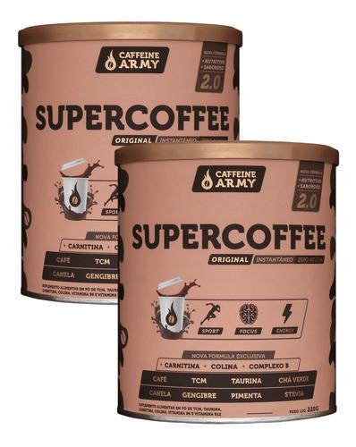 Imagem 1 de 7 de Kit 2x Supercoffe 2.0 Caffeine Army 220g - Queima Gordura