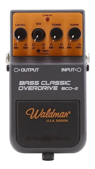 Bco-2 Waldman Pedal Bass Classic Overdrive Baixo Nf Garantia