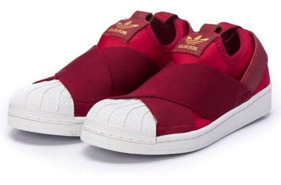 Tenis adidas Superstar Slip On Vinho - Original