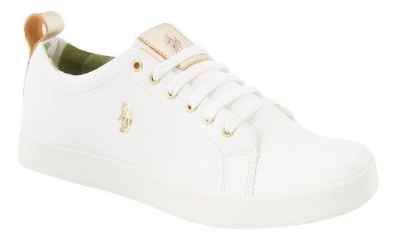 Tenis Casual Hpc Polo 5905 Para Dama Color Blanco