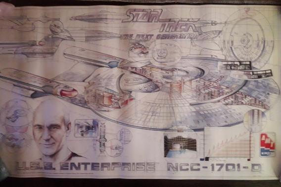 Star Trek Póster Original Uss Enterprise D. Amt 1996(nuevo)