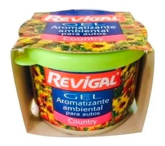 Aromantizante Perfume Gel Auto Interior Aroma Campo Revigal
