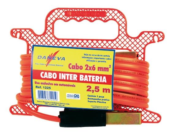 Cabo Chupeta Carro 2,5m Para Bateria Daneva Envio Rápido