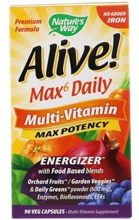 Multivitaminico Alive Potencia Máxima Energizer 90 Cáps Usa