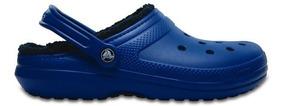 Zapato Crocs Unisex Caballero Classic Lined Clog Azul