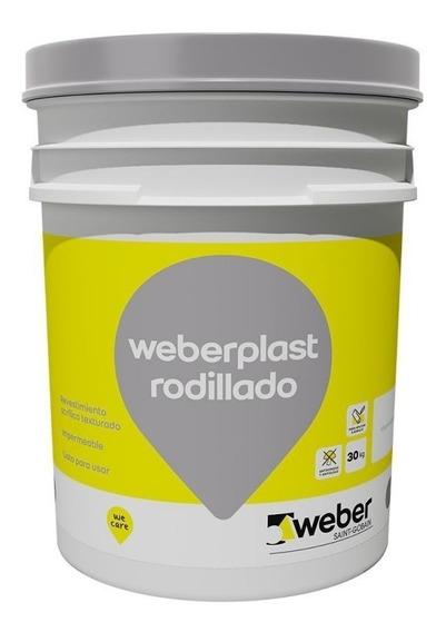 Revestimiento Texturado A Rodillo Weberplast Rodillado 30 Kg