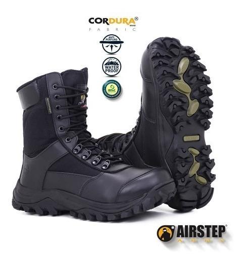 Bota Coturno Militar Airstep 8625 Upon Armor - Black Impermeável