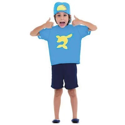 Fantasia Curta Infantil Luccas Neto Azul Original Oficial