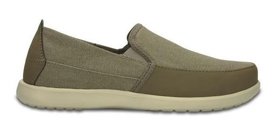 Zapato Crocs Caballero Santa Cruz Deluxe Slip On M Kahki