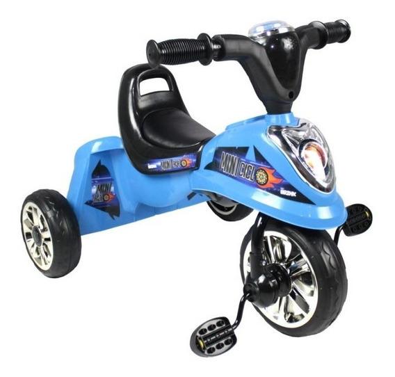 Mini Triciclo Infantil Velotrol Meninos Azul Luz E Sons Luxo