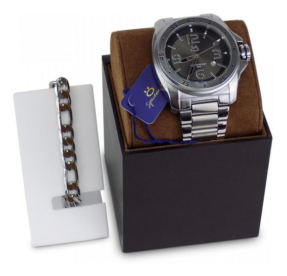 Relógio Masculino Original Aço Pulseira Caixa Garantia