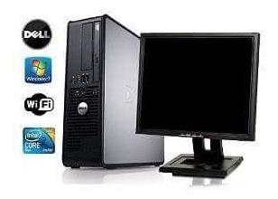Computador Completo + Monitor 17 Lcd E Wi-fi.