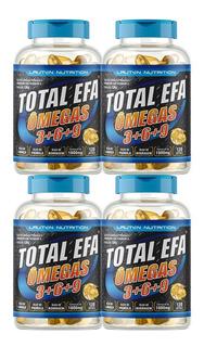 Combo 4 Total Efa Omegas 3, 6, 9 1000mg 120 Cap - Lauton