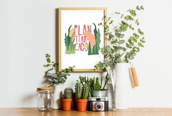 Ilustración Plantiarcado Decorativa Original Da Gal