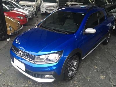 Volkswagen Saveiro Cross Dupla 1.6 Flex 2017 Azul Garantia