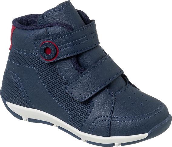 Sapato Coturno Infantil Klin Menino Outdoor Original Velcro