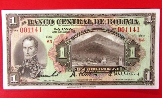 Bolivia Billete 1 Boliviano Pick 118 Año 1928 Unc Sin Circular