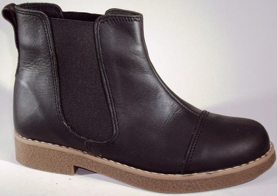 Zapatos Botineta Cuero 100 %vacuno Precio Fabrica Art 585