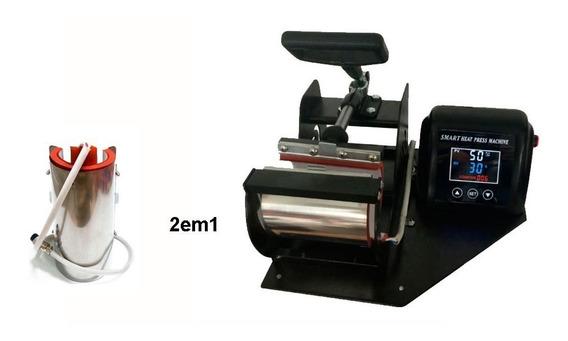 2em1 Prensa Termica Digital Caneca Copo Long Drink 220volt
