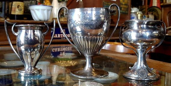Antiguos Trofeos Tenis Década Del ´20 Art Noveau (los 3). 31078