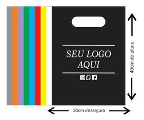 Sacola Plástica Personalizada Boca Vazada 30x40 500 Un