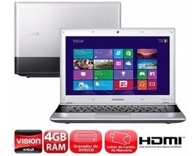 Notebook Samsung Dual Core Amd Hd 320gb Memoria 4gb Promoção