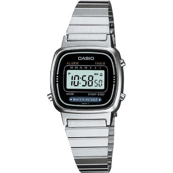 Relógio Digital Casio Feminino Mini La 670wa-1df Vintage