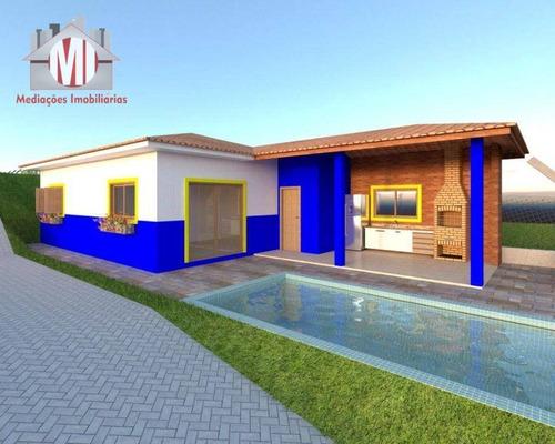 Imagem 1 de 24 de Lindo Projeto Em Construção, Com 3 Dormitórios, Piscina, Área Gourmet, Bem Localizada, À Venda, 950 M² Por R$ 360.000 - Zona Rural - Pinhalzinho/sp - Ch1004