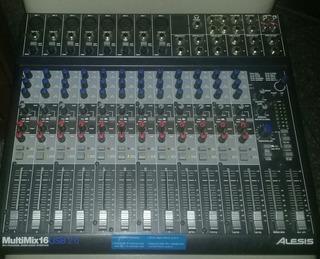 Consola Alesis Multimix 16 Usb 2.0 Mixer/interface Multipist