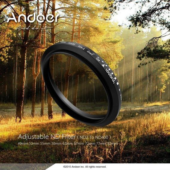 Andoer 72mm Varivel Para Canon Nikon Dslr Camera