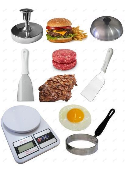 Espátulas Abafador Modelador Hambúrguer Ovos Balança Digital