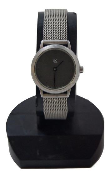 Relógio De Pulso Feminino Calvin Klein Prateado.