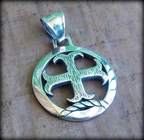 Imagem 1 de 10 de Atacado 10 Pcs ! Pingente Cruz Templária Templar Cross Prata
