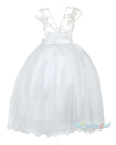 Vestido Primera Comunion Gala De Lujo Niña Exclusivo 077