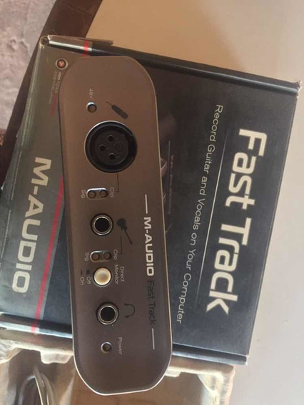 Interface De Áudio M-audio Fast Track