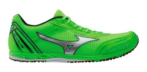 Promoção Tênis Mizuno Wave Ekiden 11 Corrida Cinza Verde Neon Barato Original!